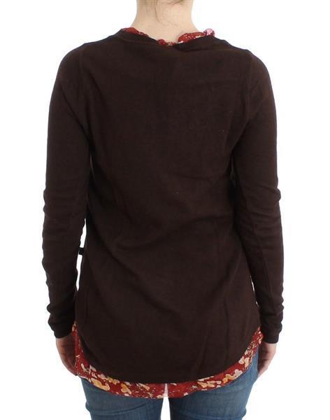 Grote foto cavalli brown crewneck sweater it40 s kleding dames truien en vesten