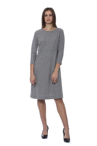 Grote foto peserico grigio dress it42 s kleding dames jurken en rokken