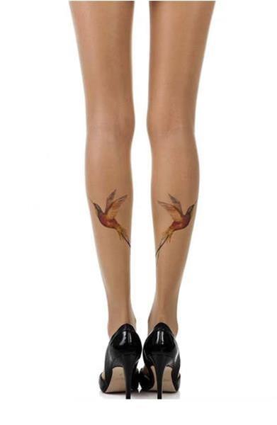 Grote foto huidkleurige panty met afbeelding maat s m kleding dames ondergoed