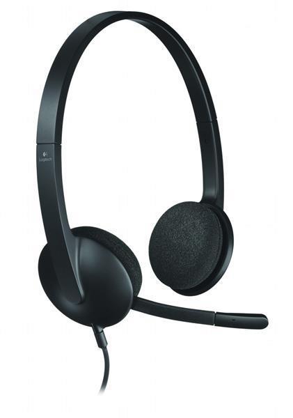 Grote foto h340 headset hoofdband zwart audio tv en foto koptelefoons