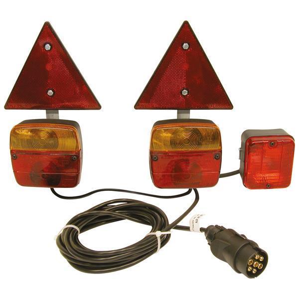 Grote foto carpoint achterlichtset magneetbevestiging 0404086 caravans en kamperen caravan accessoires