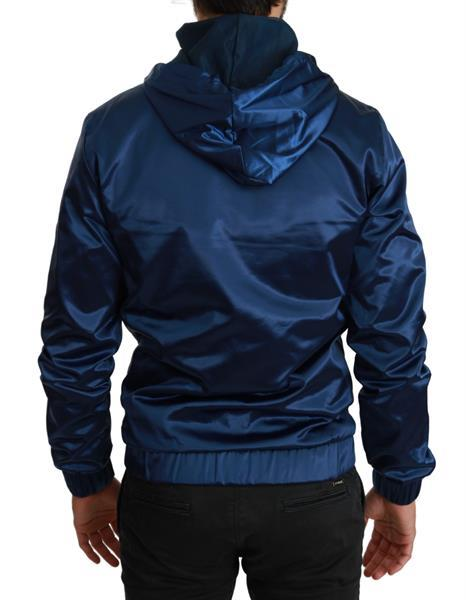 Grote foto dolce gabbana blue dg sport zipper hooded sweater it46 s kleding heren truien en vesten