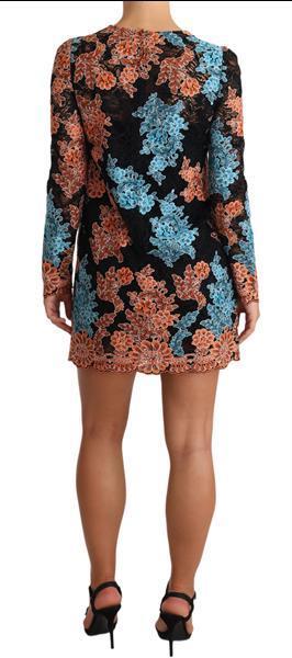 Grote foto dolce gabbana multicolor lace embroidered mini dress it38 kleding dames jurken en rokken