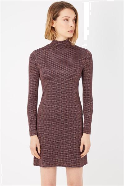 Grote foto please marrone brown dress s kleding dames jurken en rokken