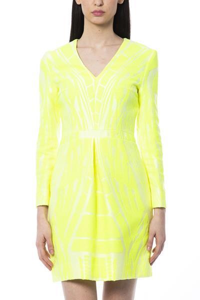 Grote foto byblos giallofluo dress it42 s kleding dames jurken en rokken