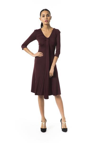 Grote foto byblos bordeauxscuro dress it42 s kleding dames jurken en rokken