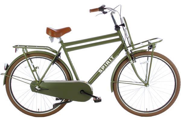 Grote foto spirit cargo plus n3 mat groen fietsen en brommers herenfietsen