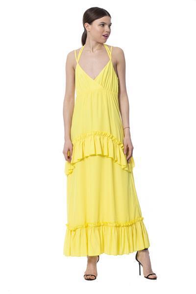 Grote foto silvian heach yellow dress xs kleding dames jurken en rokken