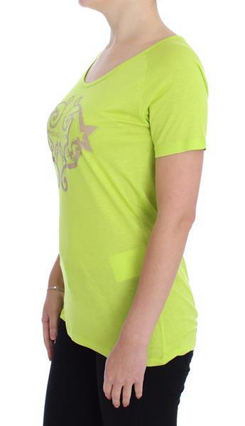 Grote foto versace jeans yellow crew neck studded t shirt it42 s kleding dames t shirts