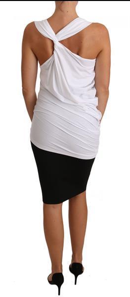 Grote foto cavalli white top tank cavalli t shirt jersey it46 l kleding dames t shirts