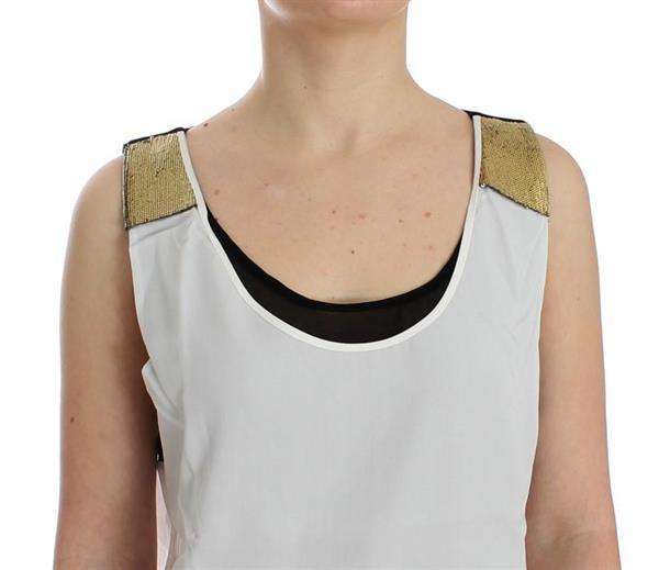 Grote foto costume national white sleeveless top xs kleding dames t shirts