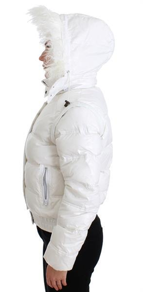Grote foto cavalli white puffer jacket vest it42 m kleding dames jassen zomer