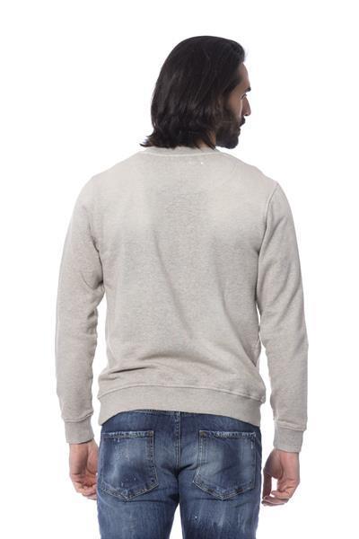 Grote foto frankie morello mgreymelange sweater s kleding heren truien en vesten