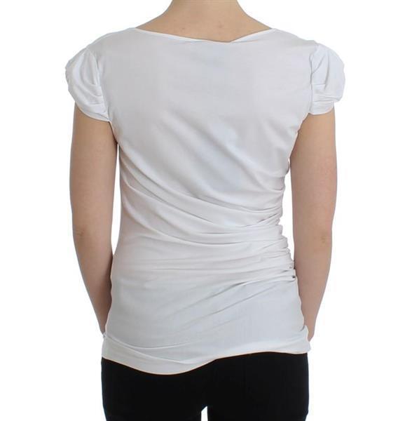Grote foto cavalli white cotton top it48 xxl kleding dames t shirts