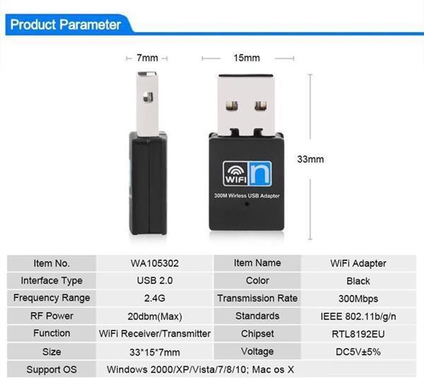 Grote foto wifi mini usb dongle adapter ontvanger 300mbps netwerk cd computers en software overige computers en software