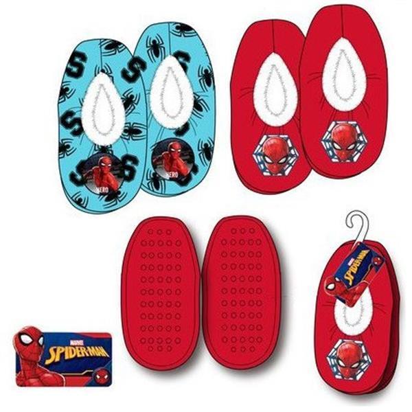 Grote foto spiderman rode blauwe sloffen hanger kinderen en baby schoenen voor meisjes