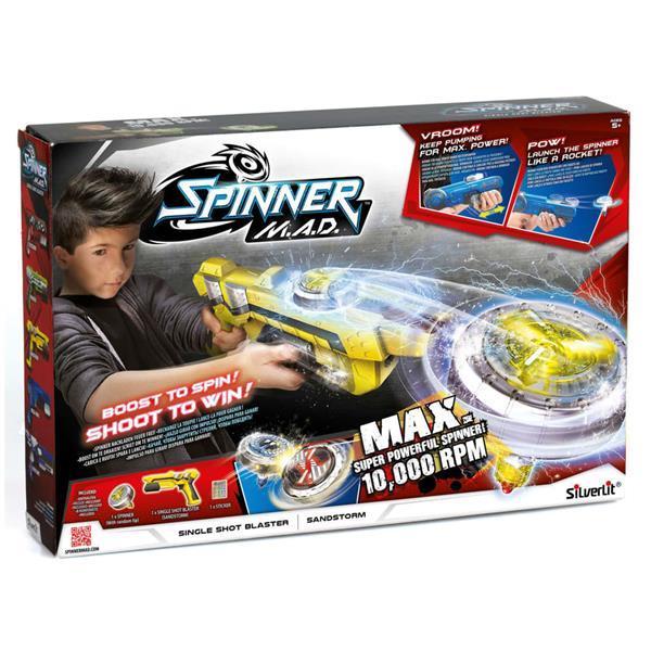 Grote foto silverlit spinner mad single shot blaster sandstorm geel kinderen en baby los speelgoed