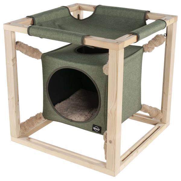 Grote foto quapas quapas quapas kattenbed met hangmat catcube l 62 5 dieren en toebehoren katten accessoires