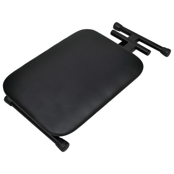 Grote foto vidaxl keyboardstandaard en kruk dubbel versterkt zwart muziek en instrumenten overige muziek en instrumenten