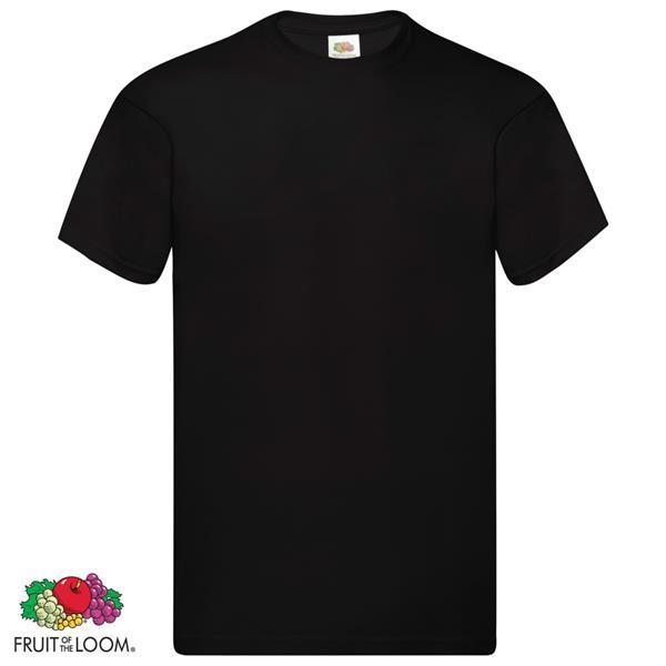 Grote foto fruit of the loom t shirts original 10 st xxl katoen zwart kleding heren overhemden