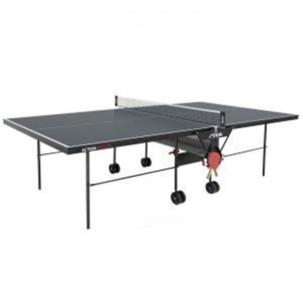 Grote foto stiga tafeltennistafel action roller indoor blauw sport en fitness overige sport en fitness
