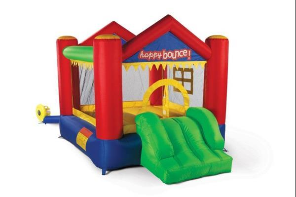 Grote foto avyna springkussen party house fun 3 in 1 kinderen en baby trampolines en springkussens