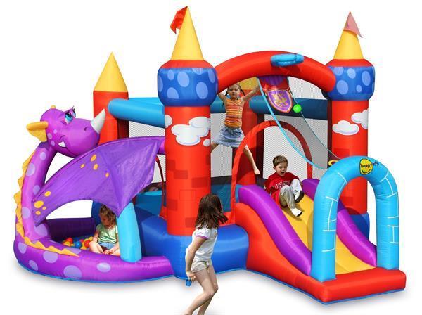 Grote foto happy hop dragon quest bouncer kinderen en baby trampolines en springkussens