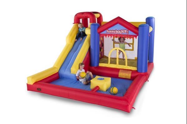 Grote foto avyna springkussen waterslide 8 in 1 kinderen en baby trampolines en springkussens
