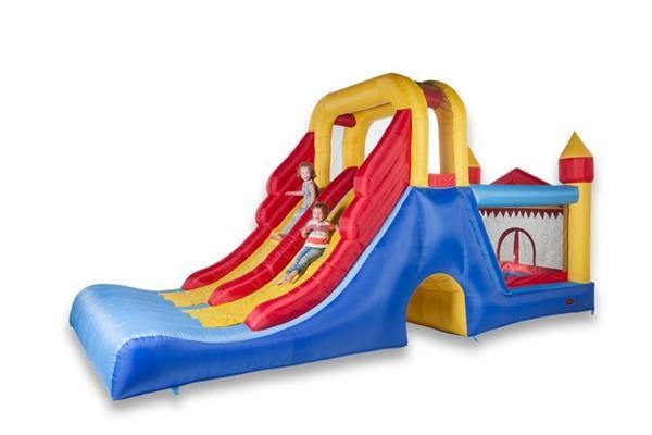 Grote foto avyna springkussen double mega slide 4 in 1 kinderen en baby trampolines en springkussens