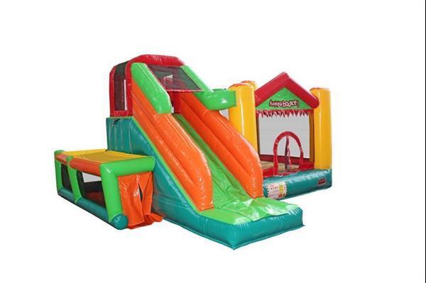 Grote foto avyna springkussen fun palace big 9 in 1 professioneel kinderen en baby trampolines en springkussens