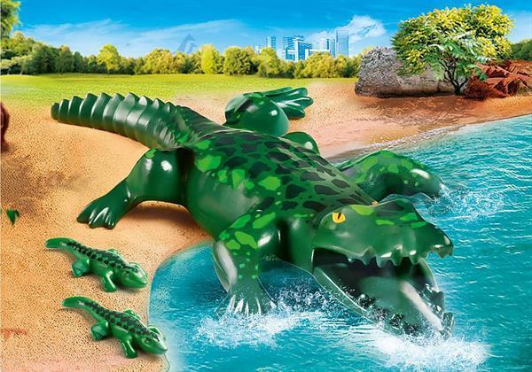 Grote foto playmobil family fun 70358 alligator met baby kinderen en baby duplo en lego