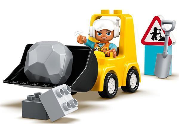 Grote foto lego duplo 10930 bulldozer kinderen en baby duplo en lego