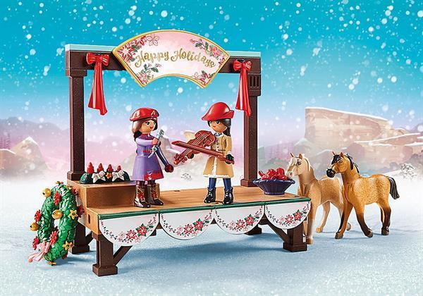 Grote foto playmobil spirit riding free 70396 kerstmis concert kinderen en baby duplo en lego
