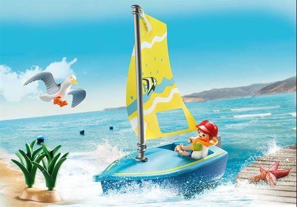 Grote foto playmobil family fun 70438 zeilbootje kinderen en baby duplo en lego