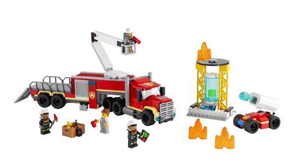 Grote foto lego city 60282 grote ladderwagen kinderen en baby duplo en lego