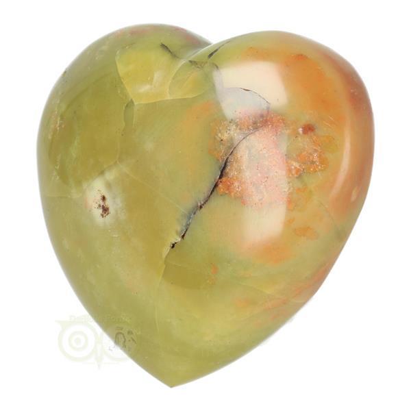 Grote foto groene opaal hart nr 9 verzamelen overige verzamelingen