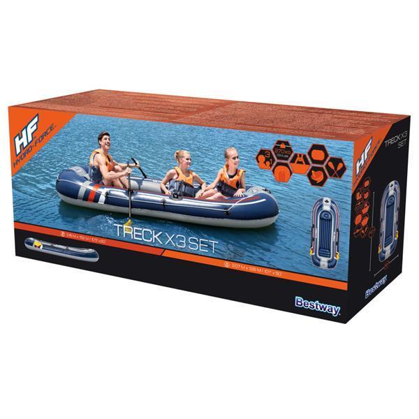 Grote foto bestway hydro force opblaasboot 307x126 cm watersport en boten roeiboten