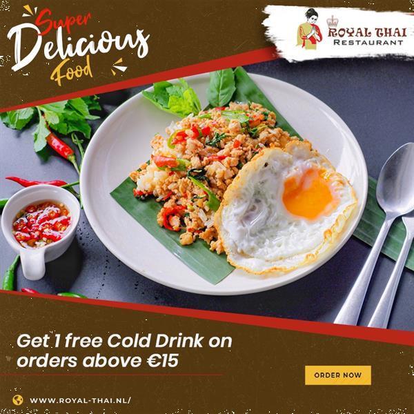 Grote foto thais eten diensten en vakmensen catering