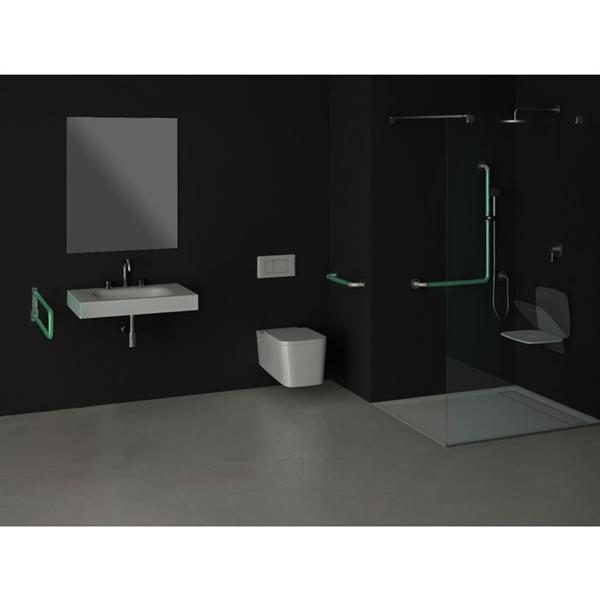 Grote foto opklapbare toiletbeugel lichtgevend glow in the dark 60 cm diversen verpleegmiddelen en hulpmiddelen