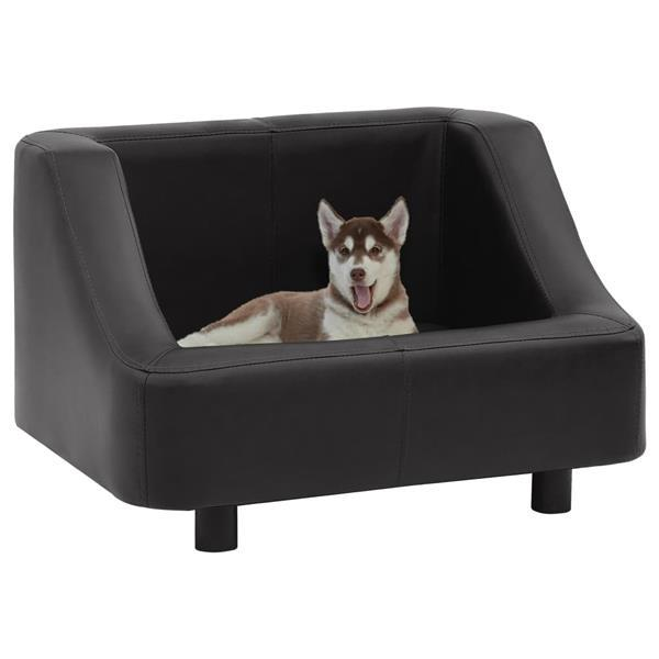Grote foto vidaxl hondenbank 67x52x40 cm kunstleer zwart dieren en toebehoren toebehoren