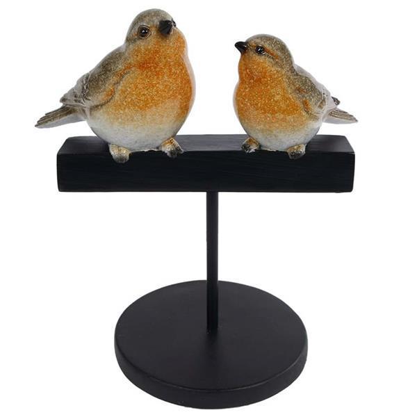 Grote foto gifts amsterdam vogelsculptuur robin 22 5x8 5x29 cm polystee antiek en kunst kunst