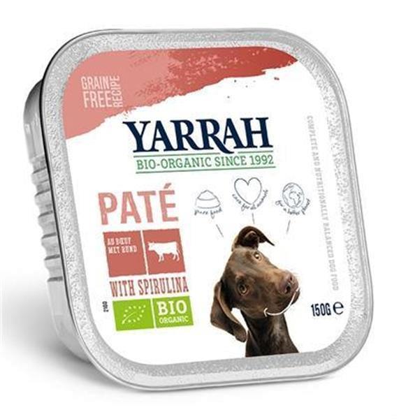 Grote foto yarrah dog alu pate rund spirulina graanvrij 12x150 gr dieren en toebehoren toebehoren