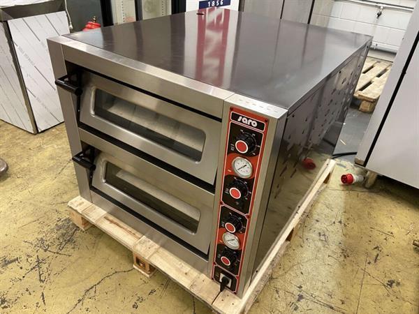 Grote foto rvs saro massimo pizzaoven oven 2 x 6 pizza 400v horeca diversen overige diversen