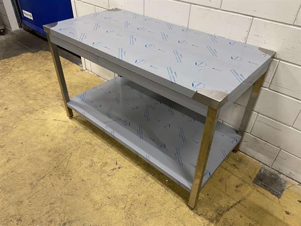 Grote foto rvs werktafel tafel 140 x 70 x 86 cm horeca diversen overige diversen