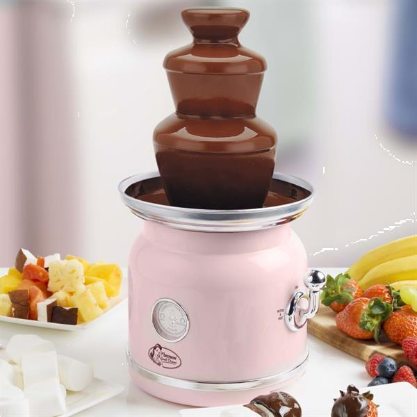 Grote foto bestron chocoladefontein acf700p roze witgoed en apparatuur kookplaten en gasstellen