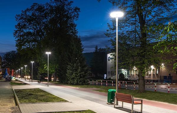 Grote foto rosa led armatuur corona 72w on top voor straat en parkver zakelijke goederen overige zakelijke goederen