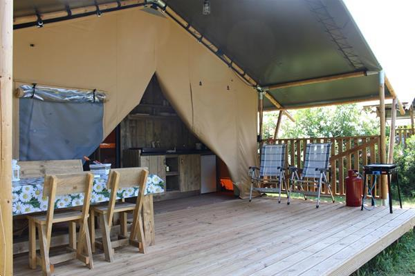 Grote foto luxe kampeervakanties in safaritenten met kinderen vakantie kids mee op reis