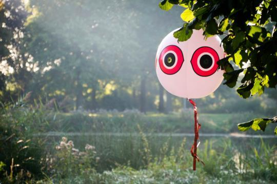 Grote foto knock off schrikballon geel dieren en toebehoren overige