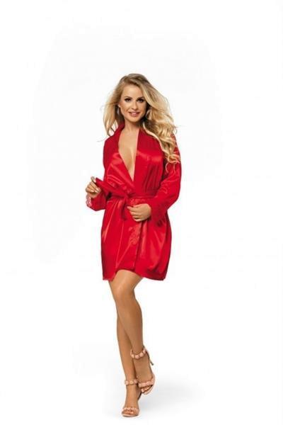 Grote foto rode kimono satijn in eigen maat maat 4xl kleding dames ondergoed