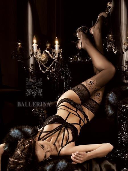 Grote foto lange hold ups met fishnet rand maat s m kleding dames ondergoed